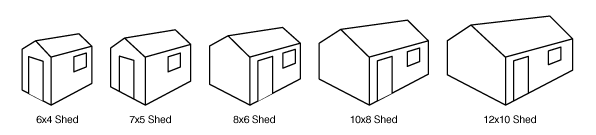 Shed sizes