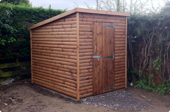 8x6 pent shed - York